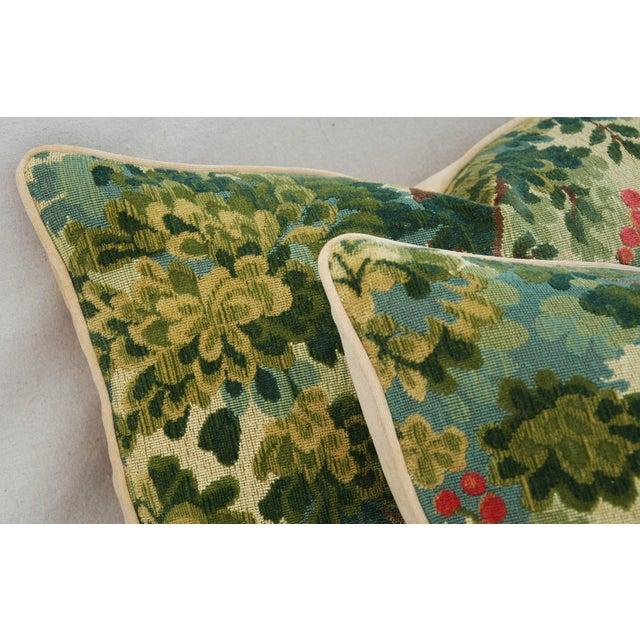 Designer Scalamandre Velvet Marly Pillows - Pair - Image 7 of 11