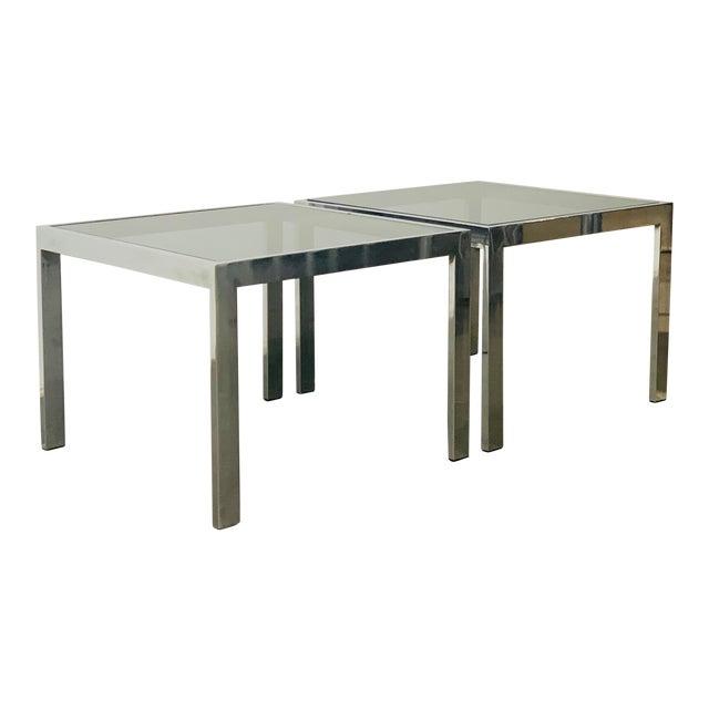 1970s Milo Baughman Side Tables - a Pair For Sale