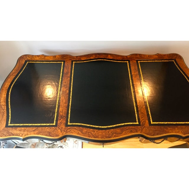 Drexel Chinoiserie Leather Writing Desk & Chair - Image 6 of 11