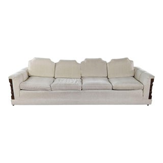 1960s Modern Four-Seat Cushion Sofa For Sale