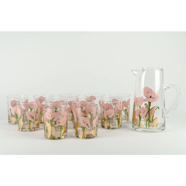Mid 20th Century Vintage Martini Cocktail Glassware - Set of 11 For Sale - Image 5 of 13