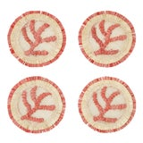 Image of Coral Straw Coasters, Set of 4 For Sale