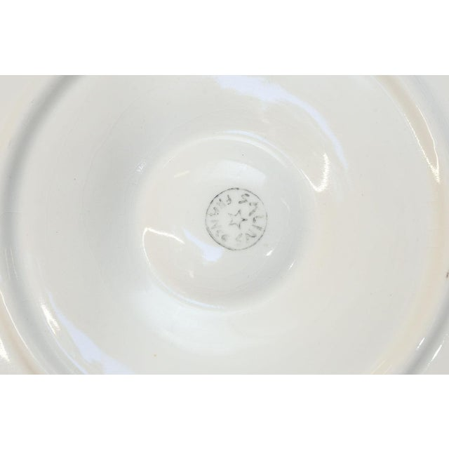 Ceramic Set of Eight French Oyster Plates For Sale - Image 7 of 8