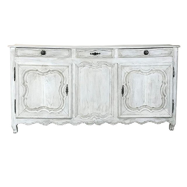 18th Century Country French Whitewashed Buffet For Sale - Image 13 of 13