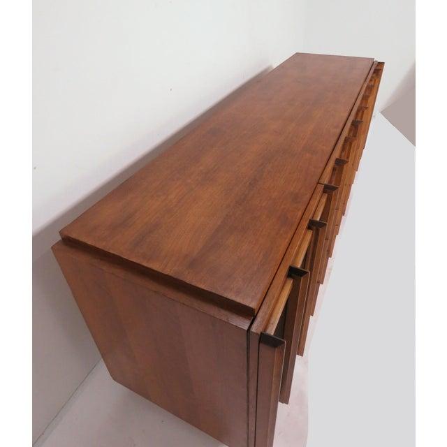 Mid-Century Modern Brutalist Mid Century 9 Drawer Credenza / Dresser by Tabago For Sale - Image 3 of 10