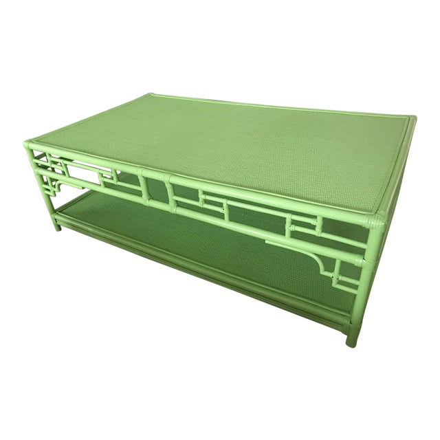 Lime Rattan Pagoda Coffee Table - Image 1 of 5