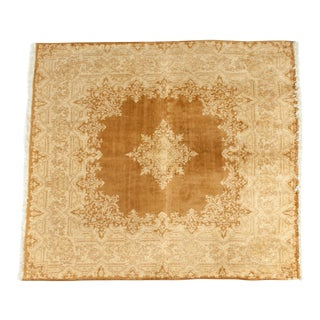 Early 20th Century Hand Knotted Silk Area Rug For Sale