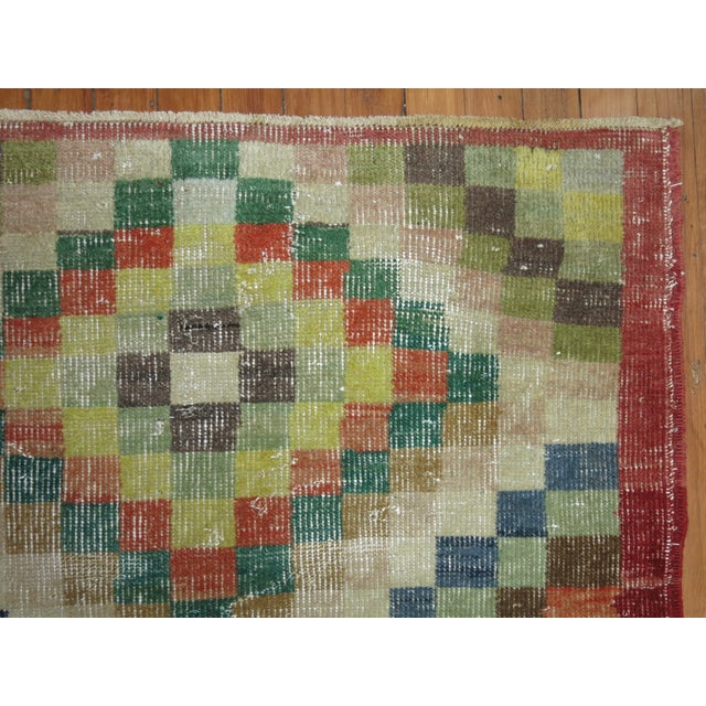 One of a Kind Turkish Deco Runner. 3 x 6.