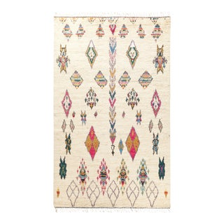 """One-of-a-Kind Bohemian Hand-Knotted Area Rug 5' 10"""" x 9' 3"""" For Sale"""