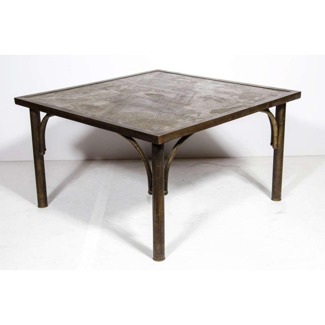 This stunning and iconic cocktail table was realized in the United States by the legendary Mid Century designers- the...