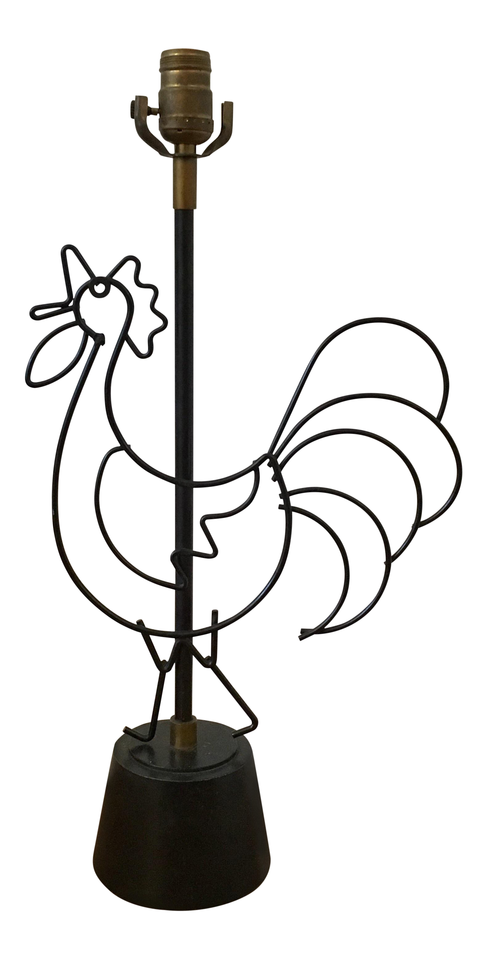 Frederick Weinberg Style Rooster Table Lamp For Sale