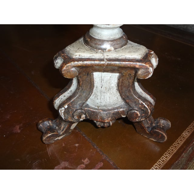 19th Century Italian Candle Holder, Pair For Sale - Image 9 of 10
