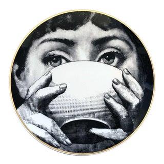Rosenthal Piero Fornasetti Porcelain Plate Themes & Variation Pattern, Motiv 10 For Sale