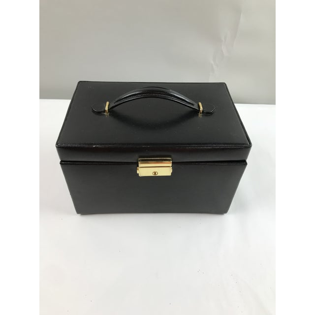 Black Leather Train Case For Sale - Image 13 of 13