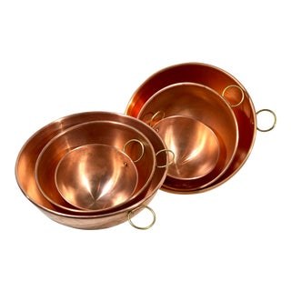 Late 20th Century Copper Bowls - 6 Pieces For Sale