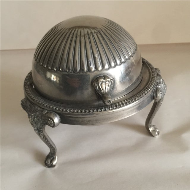 Mid-Century Silver Domed Tray - Image 7 of 8