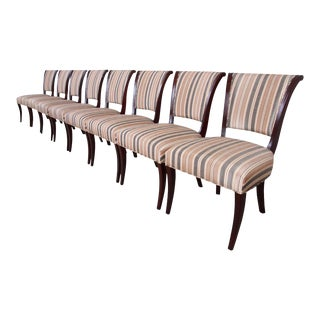 Barbara Barry for Baker Furniture Mahogany Dining Chairs - Set of 8 For Sale