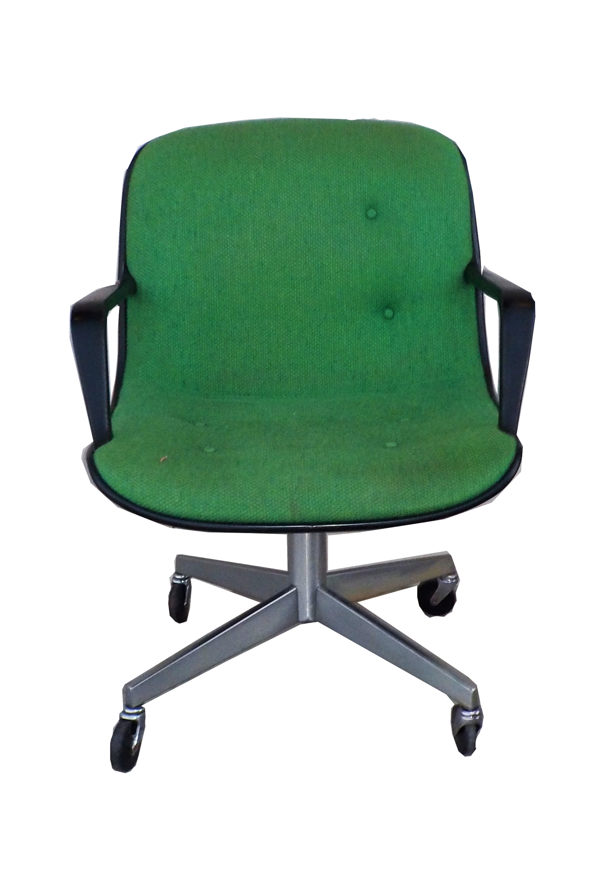 Office chair vintage Eames Midcentury Modern Steelcase Vintage Green Office Chair For Sale Chairish Midcentury Modern Steelcase Vintage Green Office Chair Chairish