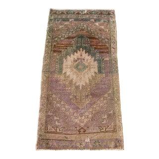 1960s Vintage Turkish Prayer Rug-1′6″ × 3′3″ For Sale