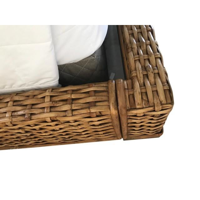 Country Country Ralph Lauren Woven Rattan King Bedframe For Sale - Image 3 of 8