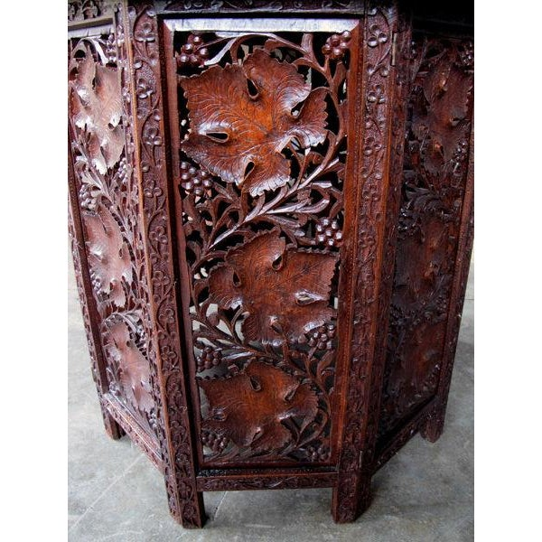 A Large-Scaled Anglo Indian Rosewood Ocatonal Traveling Table - Image 2 of 4