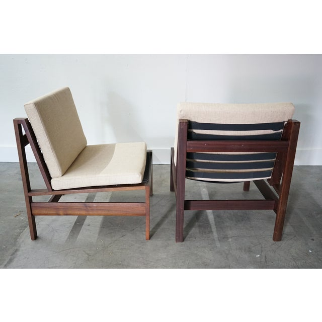 Mid-Century Armless Lounge Chair, Sold as a Pair For Sale In Nashville - Image 6 of 8