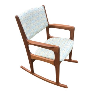Mid Century Danish Teak Rocking Chair For Sale