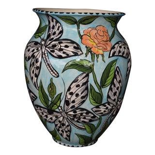 Butterfly & Rose Motif Vase