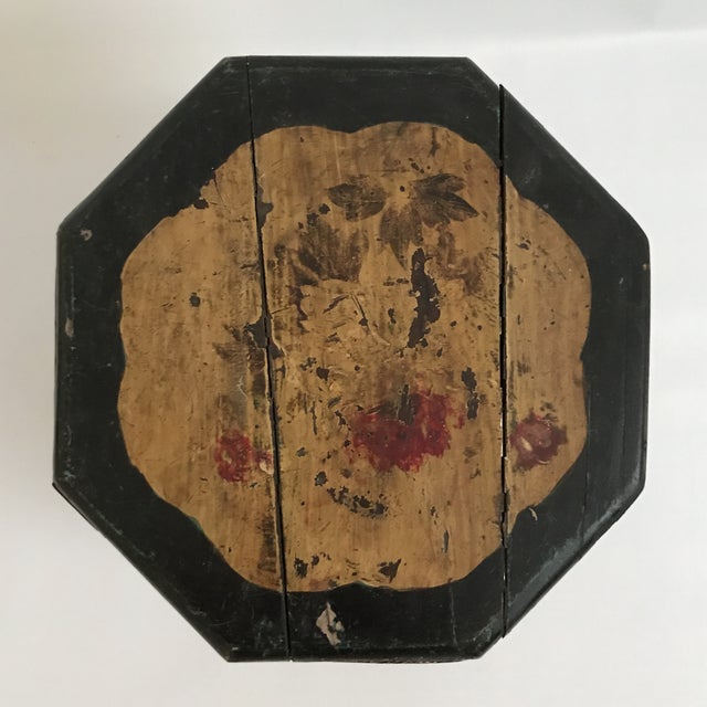 Chinese Octagonal Barrel & Lid For Sale In Charlotte - Image 6 of 11
