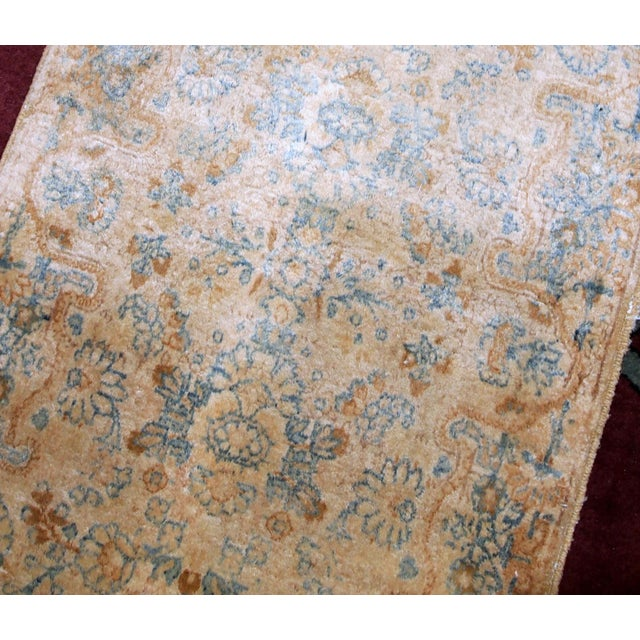 Textile 1920s, Handmade Antique Persian Kerman Rug 2.10' X 5.3' - 1b703 For Sale - Image 7 of 10