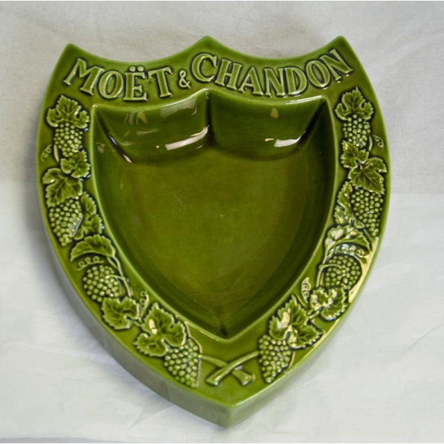 """Vintage """"Moet & Chandon"""" French Ashtray For Sale - Image 5 of 5"""