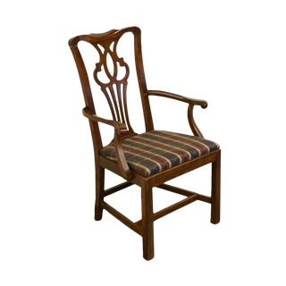 Late 20th Century Drexel Heritage Chippendale Style Dining Chair For Sale