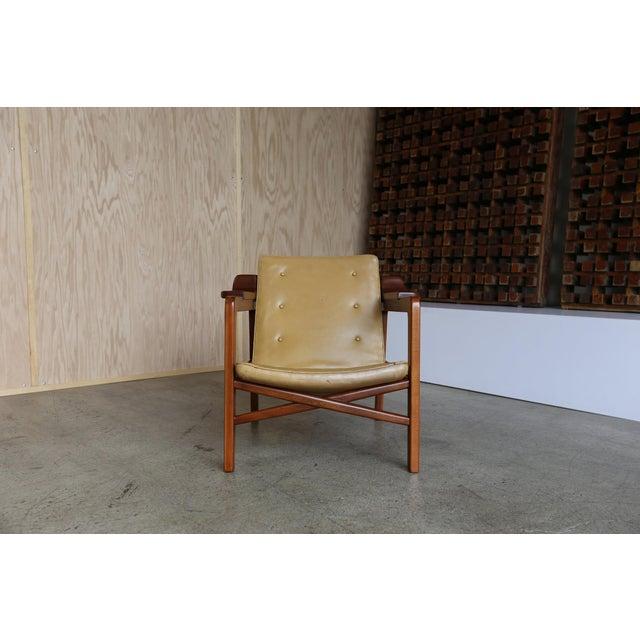 "Edvard Kindt-Larsen MId Century Tove & Edvard Kindt Larsen ""Fireplace"" Chair For Sale - Image 4 of 8"