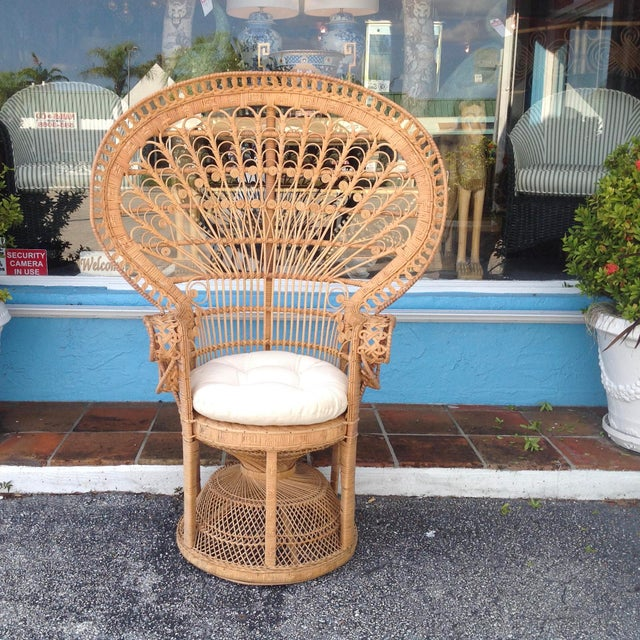"""""""Emmanuelle"""" Style """"Peacock"""" Chair For Sale - Image 11 of 11"""