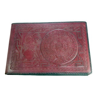 """Vintage Tooled Leather 14"""" Book Album For Sale"""