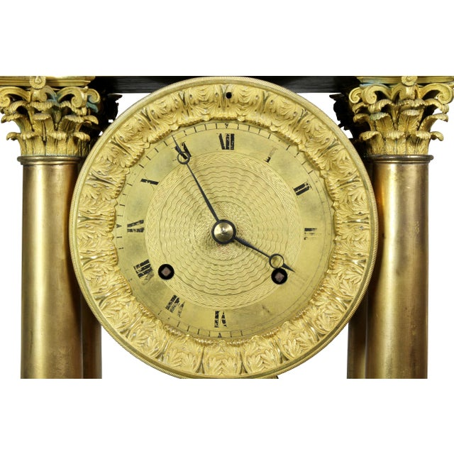 French Empire Bronze Mantle Clock For Sale In Boston - Image 6 of 12