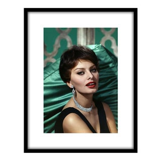 1959 Framed Wallace Seawell Sophia Loren Portrait Photo For Sale
