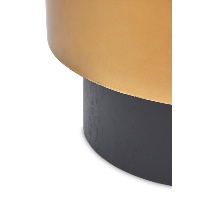 Contemporary Benton Side Table in Gold For Sale - Image 3 of 7