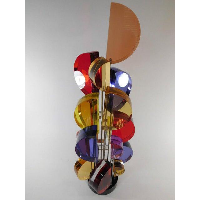 Michael George Sunburst Kinetic Lucite Sculpture - Image 9 of 10