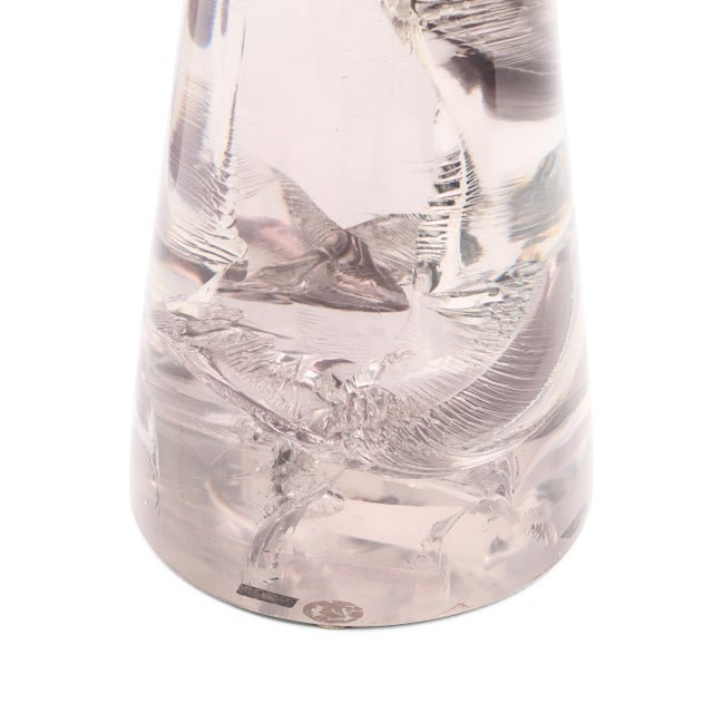 Art Deco Glacier Resin Drink Table in Transparent Mauve by Sylvan Sf For Sale - Image 3 of 6