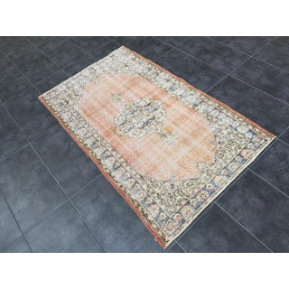 """1960s Vintage Turkish Distressed Oushak Rug-3'2'x5'2"""" Preview"""