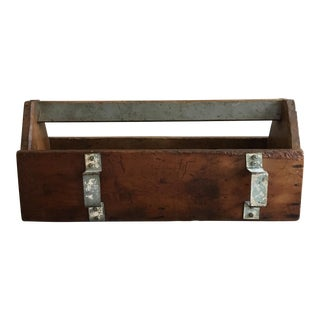 Vintage Wood and Metal Tool Caddy