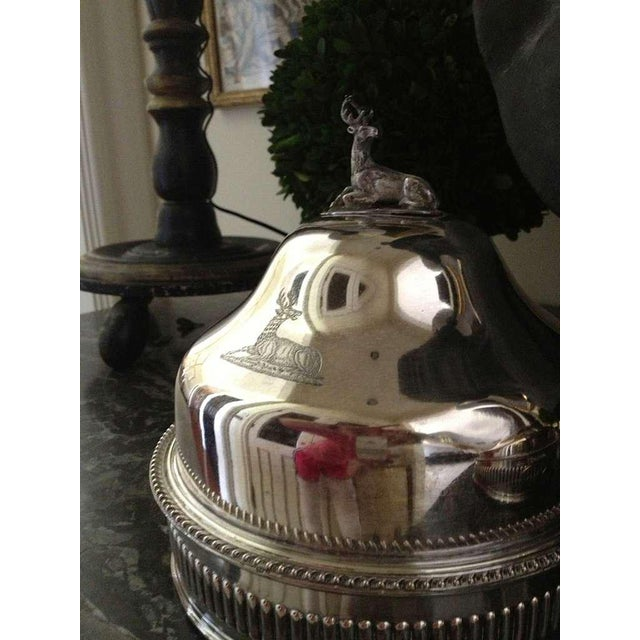 Pair of Silver Sheffield Food Warmers For Sale In Savannah - Image 6 of 9