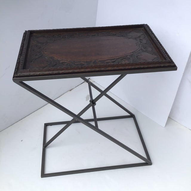 Antique English Carved Side Table For Sale - Image 9 of 9