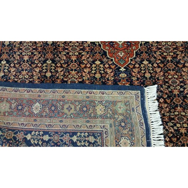 1900 - 1909 Early 20th Century Antique Persian Malayer Handmade Rug - 7′3″ × 10′6″ - Size Cat. 6x9 8x10 For Sale - Image 5 of 7