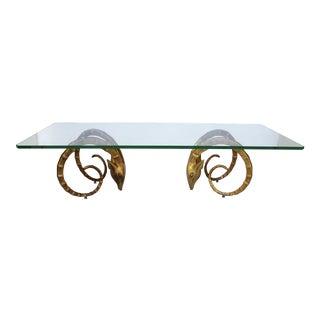 1960s Mid-Century Modern Gold Ibex Coffee Table