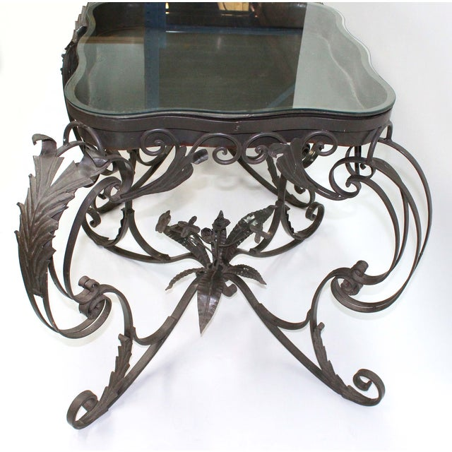 Iron Bent Floral Side Tables - A Pair For Sale - Image 4 of 7