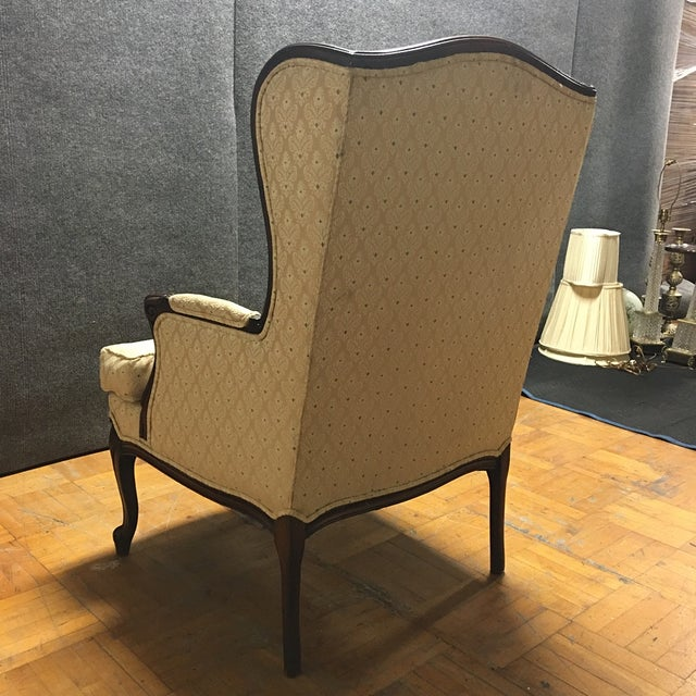 Vintage French Style Wingback Armchair - Image 3 of 6