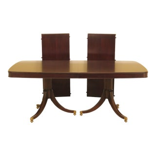 French Thomasville Duncan Phyfe Dark Cherry Dining Table For Sale