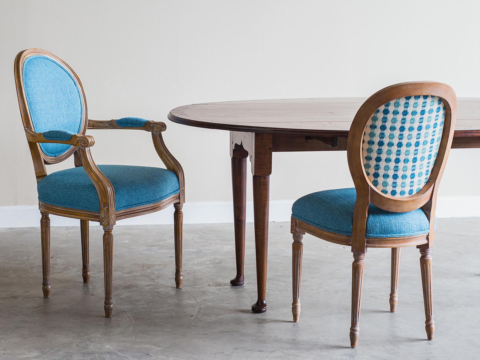 Captivating Louis XVI Style Dining Chairs, France, Custom Finish   Image 3 Of 6
